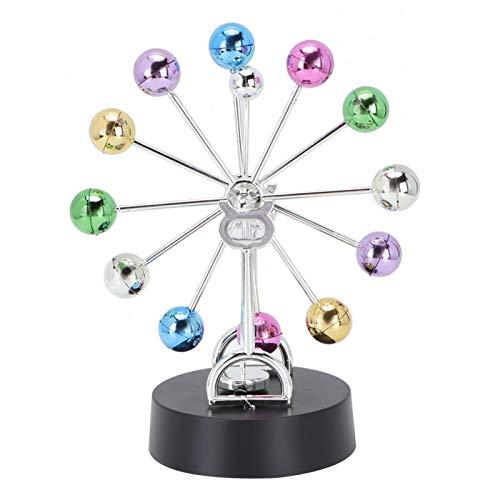 Sollmey Movimiento perpetuo: Modelo de decoración de Mesa para el hogar con Movimiento Continuo, rotación de Bola giratoria de plástico