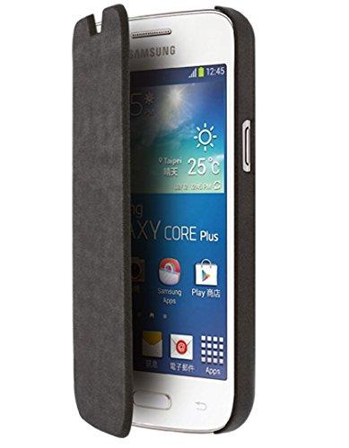 BLUEWAY - Funda con Tapa de Estilo Libro para Samsung Galaxy Core Plus, Color Negro