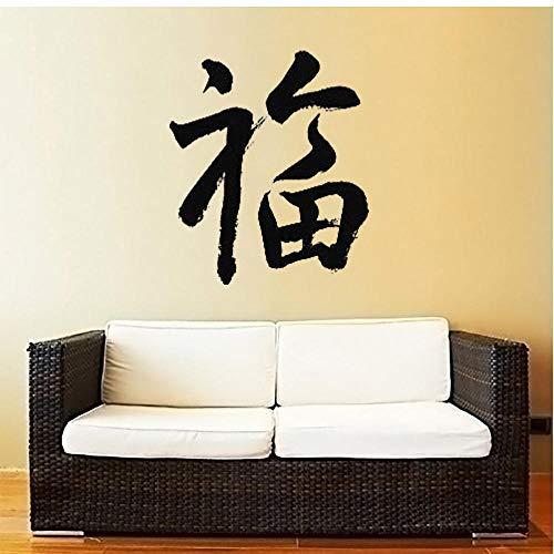 Segen chinesische Kalligraphie Zeichen viel Glück Glück Malerei Wandkunst Home Decor großes Geschenk Vinyl Wallpaper 57x68cm