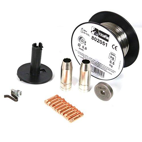0.8 mm Telwin 802061 Bobina filo per saldatura su acciaio inossidabile 1 kg D Grigio 0.1 V