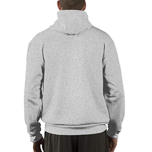 Hello-Darkness-My-Old-Friend-Skull Men's Long Sleeve Hoodie Casual Pullover Hoodie Sweatshirt with Pockets Gray