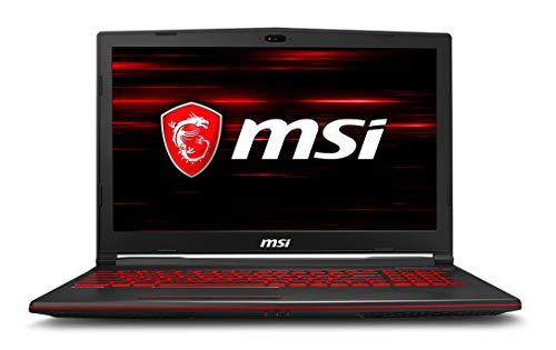 MSI GL63 15.6' Full HD IPS Gaming Notebook Computer, Intel Core i7-8750H 2.2GHz, 8GB RAM, 128GB SSD + 1TB HDD, NVIDIA GeForce GTX 1050Ti 4GB, Windows 10
