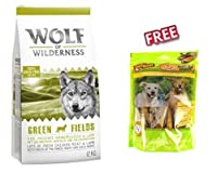 """Wolf of Wilderness """"Green Fields"""" Lamb Economy Pack: 2 x 12kg is a complete dry dog food for adult dogs of all breeds and sizes. It is well accepted and provides your pet with a balanced nutrient uptake. 100% grain and gluten free recipe High meat co..."""