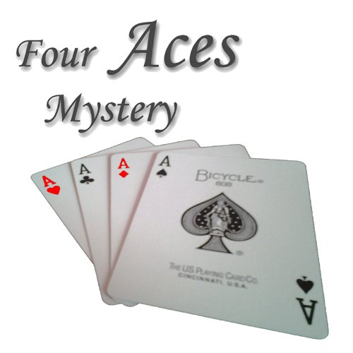 Four Aces Mystery - Spektakulärer Kartentrick | ASSE Verschwinden und erscheinen | Bicycle Zauberkarten Deck, Zubehör und Anleitung in deutsch | Gimmik Karten-Decks für Zaubertricks | Magische Karte