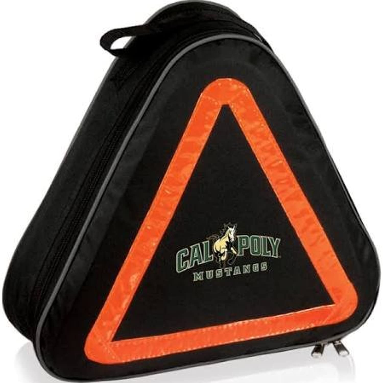 Picnic Time 699-00-179-904-0 Cal Poly Mustangs Digital Print Emergency Roadside Kit& 44; Black