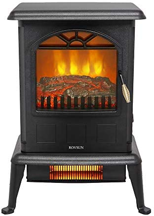 ZOKOP 22 5 H Electric Fireplace Stove Infrared Quartz Heater ETL 1500w Infrared Space Heater product image
