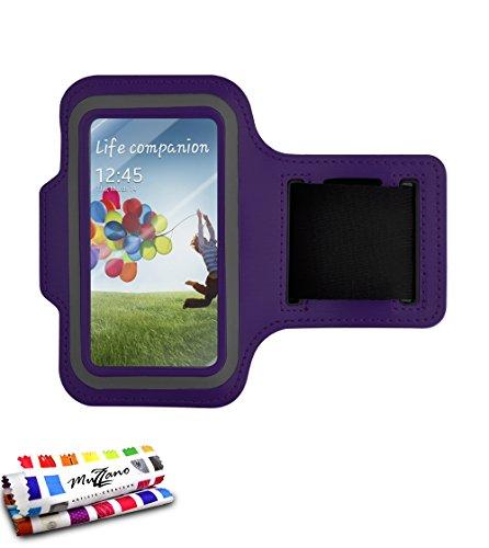 MUZZANO-Fascia da Braccio per Samsung I9300, Colore: Viola