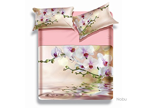 Biancaluna Miss Terry Nobu Completo Letto Matrimoniale Set Lenzuola Sopra Sotto Federe 100% cotone tinto in pezza stampa digitale made in italy