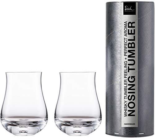 Eisch Whisky Nosing Tumbler 128/8 2 Stück in Geschenkröhre Gratis 1 Glasreinigungstuch