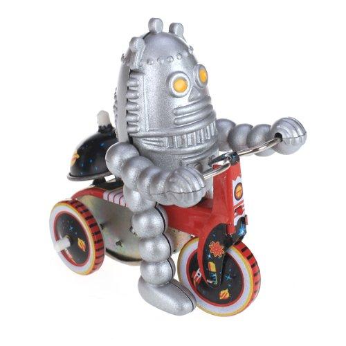 Bébé Robot sur Tricycle à Clockwork Wind-up en Métal Jouet à Collectionner Adulte