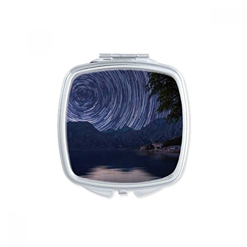 DIYthinker Big Moon Dark Night Sky Place Makeup Compact Miroir de Poche Miroirs Mignon Petit Cadeau Portable à la Main Multicolor