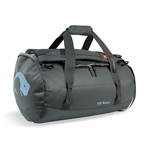 Tatonka Barrel S Reisetasche - 45 Liter - wasserfeste Tasche aus LKW-Plane mit Rucksackfunktion und großer Reißverschluss-Öffnung - Rucksacktasche - unisex - grau