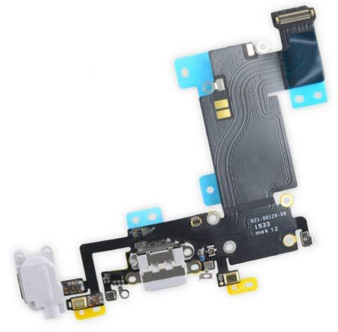 E-Fix - Conector de carga para iPhone 6 + Plus, color gris claro