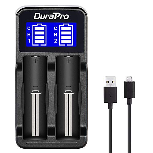 DuraPro LCD Universal Intelligent USB Dual Charger for Li-ion / Ni-MH/Ni-Cd 18650 18490 18350 17670...