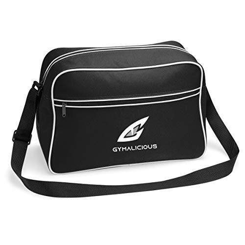GymnastiekLichtgewicht Rits Voorkant Met zakken binnen schoudertas (zwart)