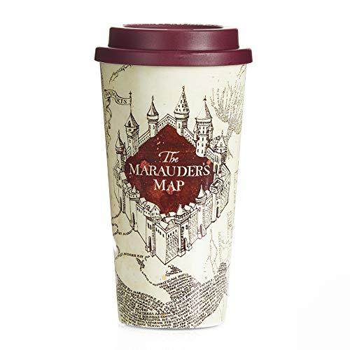 Paladone AMZ7492HP Mug de voyage avec carte du Maraudeur sous licence officielle Harry Potter