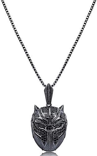 BACKZY MXJP Halskette Hip Hop Black Panther Iced Out Anhänger Halskette Männer Schmuck Geschenke Mit Box Chain 24