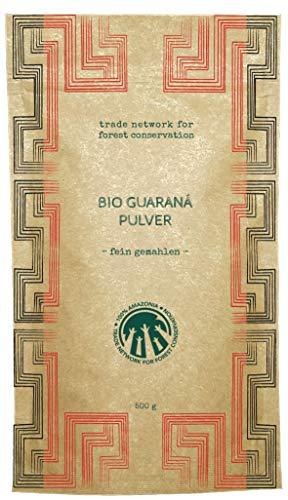 100% Amazonia Guaraná Pulver Bio | Gefördert durch das Aryiamuru Project | Kompostierbare Verpackungen (500)