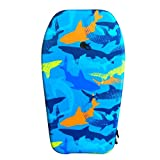 Nantucket Surf 33 Body Board - Lightweight with EPS Core & Wrist Leash, Body Boards for Beach, Beach Accessories for Adults & Kids Outdoor Toys (Shark Camo)