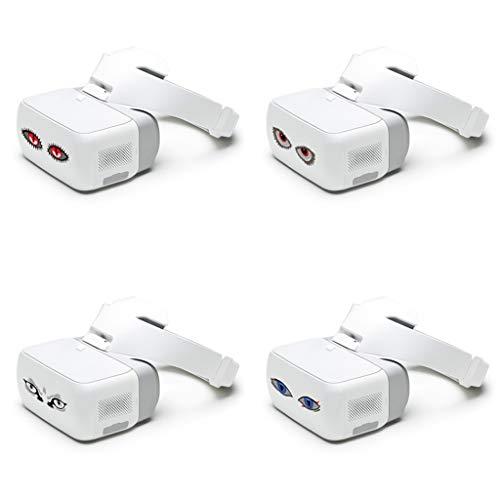 DJFEI Aufkleber Kit für DJI FPV Combo Drone Brille für VR Glas, 4Pcs wasserdichte Aufkleber Skins Kit Aufkleber Haut für DJI FPV Combo Drone Brille