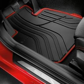 Genuine OEM BMW All-Weather Floor Mats - Sport Line (SET OF 4, INCLUDES 2 FRONT & 2 REAR MATS) - Fits 328i Sedans and 335i Sedans 2012-2013/ 2013 Active Hybrid 3