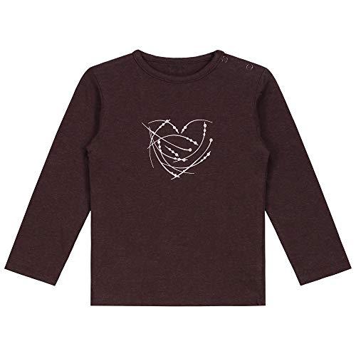 Prénatal - Camiseta de bebé para niñas. Chocolatbrown 68 cm