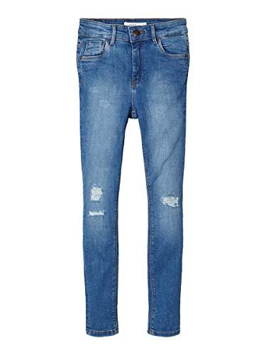 NAME IT Damen Skinny Fit Jeans High Waist 140Medium Blue Denim