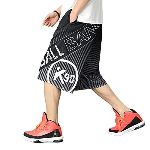 YUEMO Pantalones cortos de baloncesto de la NBA para hombre, de verano, 3/4, 16, XL