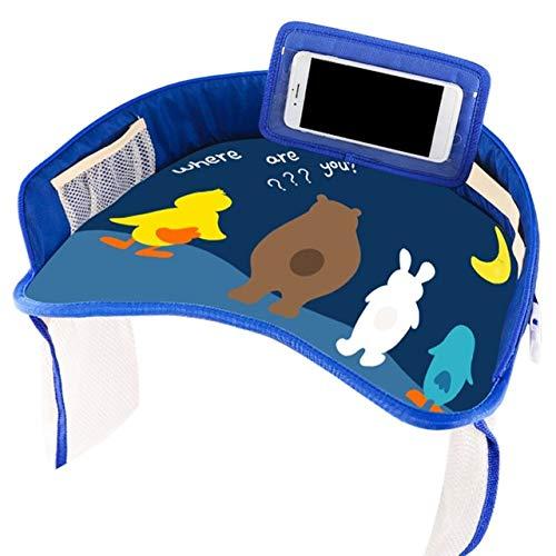 Coche Bandeja De Seguridad Para Bebés Bandeja De Asiento Para Niños Mesa Pequeña De Almacenamiento Paleta Impermeable Carro Multifunción Placa DeZafiro Sin Asomo