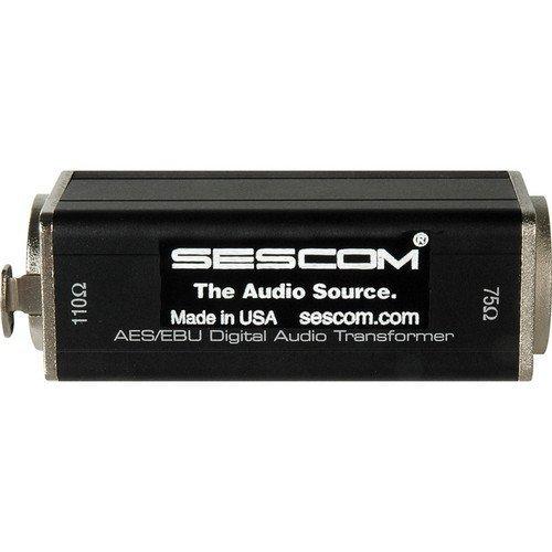 Sescom SES-AES-EBU-1 XLRF to 75 Ohm BNC Female AES/EBU Impedance Transformer, 0.1 to 6MHz Bandwidth