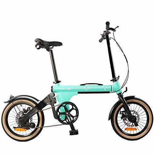 ZJWD Mini Bicicleta Plegable de 16 Pulgadas, Bicicleta de montaña, para desplazamientos en Metro Bicicleta portátil para niños, niños y Adultos,A
