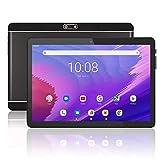 Meize 10.1インチAndroid 9.0タブレット 3G電話タブレット WiFiモデル 2GB RAM+ 32GB ROM デュアルSimカード 2MP + 5MPデュアルカメラ クアッドコアプロセッサ 1280x800 IPS HDディスプレイ(黒)