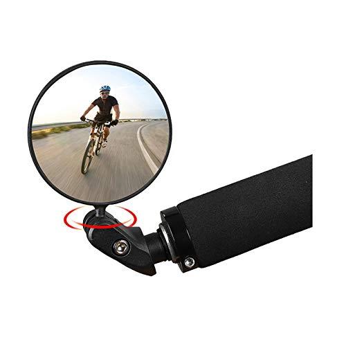 LEEWENYAN Espejo Retrovisor de Bicicleta, 360° Adjustable Bicicleta Manillar Espejor Rotativo Universal Ángulo Amplio para Carretera Montaña Accesorios Ciclismo