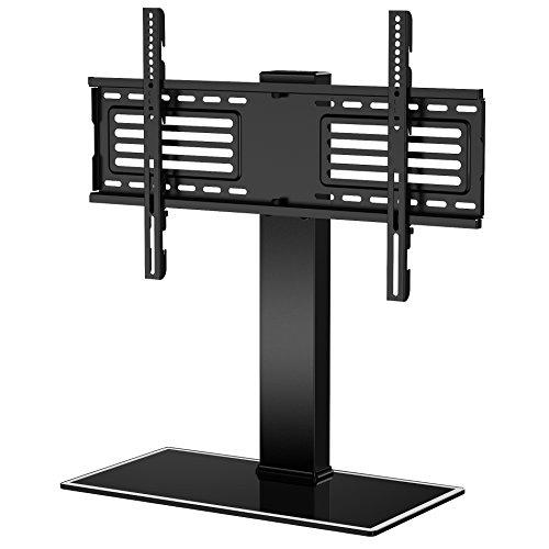 FITUEYES TV Standfuß TV Ständer Fernsehstand auf Tisch für 32 bis 65 Zoll Fernseher höhenverstellbar drehbar Glas Max.VESA 400x650 TT105001GB