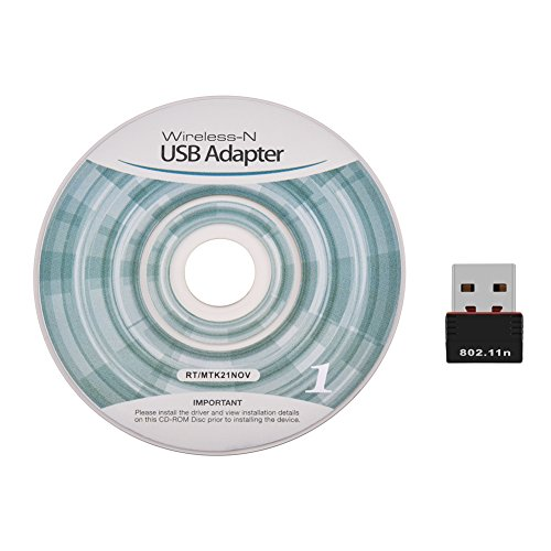 Adaptador Nano USB WiFi, 150Mbps 802.11N Dongle de Red inalámbrica de tamaño Mini Adecuado para Windows, para Mac OS, para Linux, soporta WEP, WPA-PSK / WPA2-PSK, WPA / WPA2 Encryptions