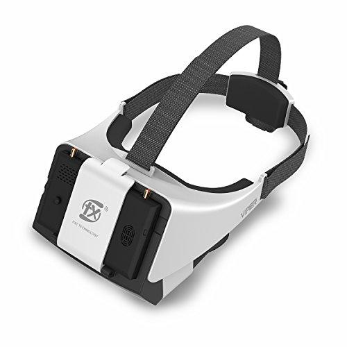Neue V2.0 FXT Viper FPV Brille 5,8 GHz 40CH Video Headset Unterstützung tragen Brille, abnehmbare 5 Zoll HDMI im Monitor, Vielfalt RX, DVR für RC Drohne