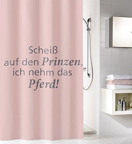 Kleine Wolke Prinz douchegordijn, Peva, pastelroze, 180 x 200 x 0,2 cm