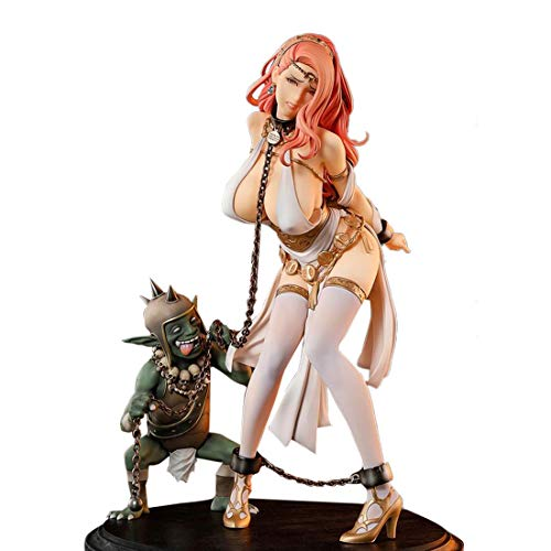 GODNECE Anime Model Kit, 1/6 26,5cm Garage Kit Anime Upgrated Anime Figur unbewegliche Hartharz PVC Figur Sammler Spielzeug -Königin Anime mit Goblin Model