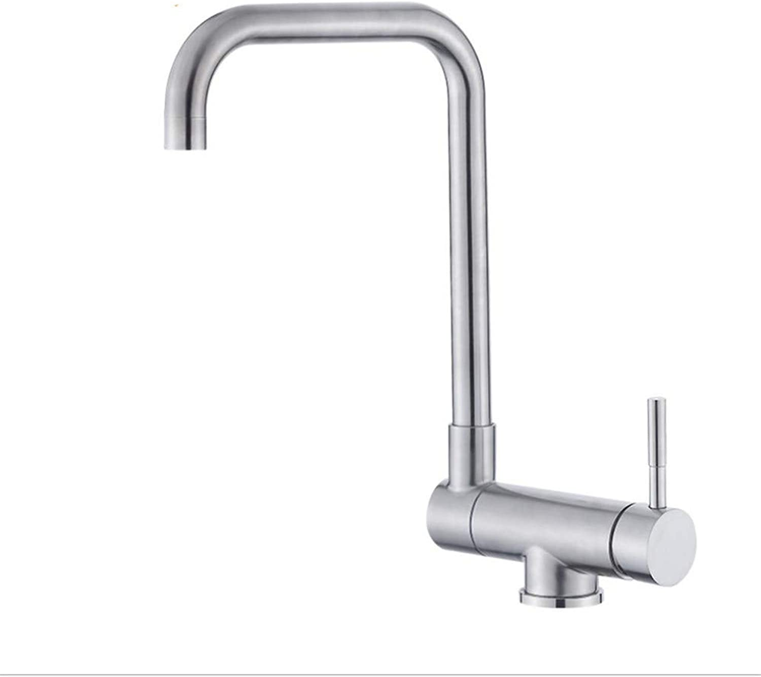 Basin Faucet304 Stainless Steel Kitchen Washing Pot Hot and Cold Faucet 360 Degree