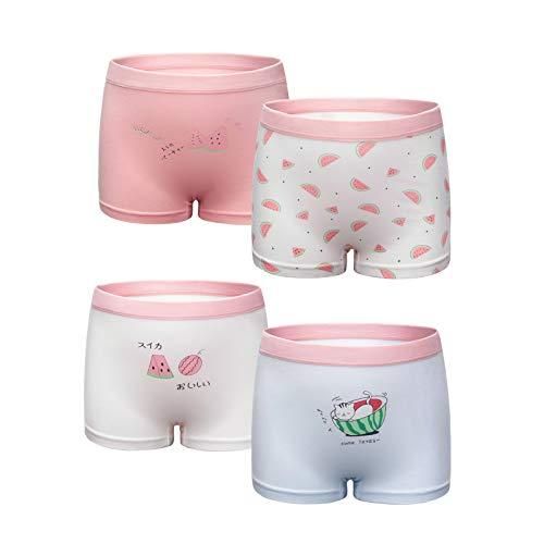 Chazleeily 4er Pack Mädchen Unterhosen Baumwolle Kinder Weiche Unterwäsche Boxershorts Größe 2-11 Jahre