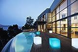 Bonetti Solarlampe für Außen in Würfel-Form mit warm-weiß, kalt-weiß oder RGB LED Licht | 30x30cm | Solarleuchte Cube | Kabellose Solarleuchte in Milchglas-Optik