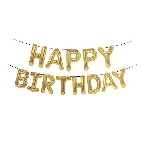thematys Happy Birthday Palloncino da Festa - Palloncini in 15 Colori Diversi - per Adulti e Bambini Compleanni (Oro)