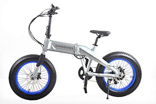 SONDORS Fold X Premium Folding Electric Bike, 20 mph, 7-Speed, Thumb Throttle, 500 watt Motor, Li-ion Battery, Electric Pedal Assist