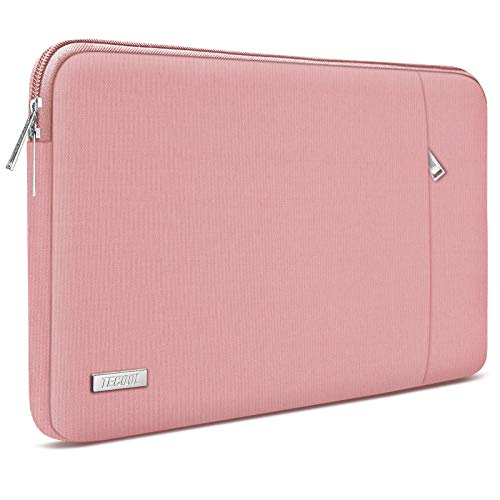 TECOOL 15.6 Inch Laptop Case Sleeve for HP Dell Lenovo Thinkpad Ideapad Acer ASUS Laptops Notebooks Protective Cover with Accessory Pocket, New Pink