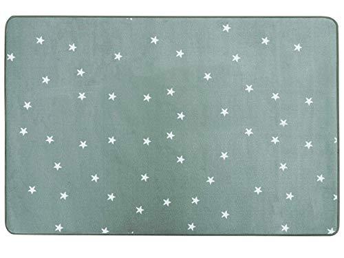 Primaflor - Ideen in Textil Kinderteppich Spielteppich Stella Pastell Grün - 100x150 cm, Kinderzimmerteppich für Mädchen & Jungen, Spielteppich, Moderner Teppich für KInderzimmer, Babyzimmer Teppich
