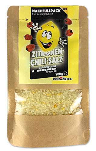 Zitronen Chili Salz Nachfüllset für Gewürzsalzmühlen 100 g