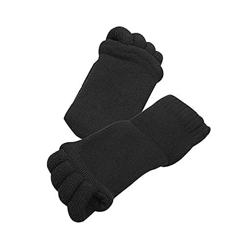 セラピーソックス (ブラック) 5本指 2足セット 9色 スリーピングソックス 足指をほぐす むくみを解消 疲れの解消 外反母趾・扁平足でお悩みの方 男女兼用