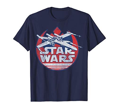 Star Wars X-Wing Rebel Symbol Vintage Graphic T-Shirt Z1 T-Shirt