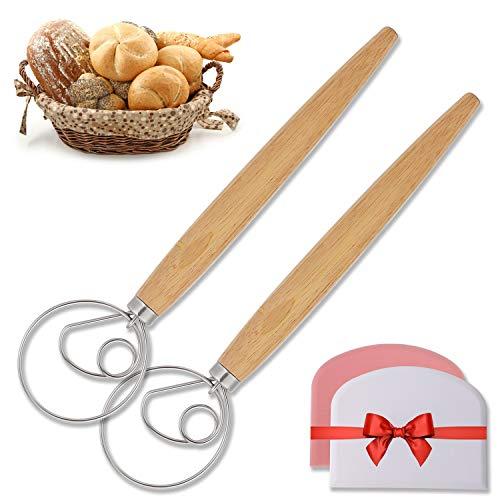Sawpy - Frusta danese per la produzione di pane, 33 cm, in acciaio inox, per cuocere torte, dessert, pasta, pizza, pasticceria