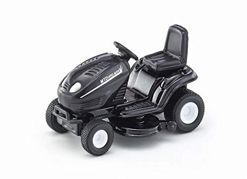 Siku 1312, Rasentraktor, 1:32, Metall/Kunststoff, schwarz, Spielzeugauto für Kinder